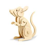 Недорогие -3D пазлы Пазлы Деревянные игрушки Динозавр Летательный аппарат Мышь Животный принт 3D Своими руками деревянный Дерево Классика 6 лет и