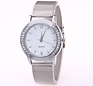 cheap -Women's Quartz Wrist Watch Chinese Casual Watch Stainless Steel Band Casual Fashion Cool Silver