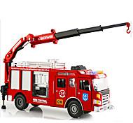 Недорогие -Игрушечные машинки Модель авто Мотоспорт Пожарная машина Игрушки Выдвижной моделирование Прямоугольный Пожарные машины Металлический