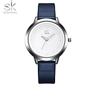 SK Women's Wrist watch Sport Watch Chinese Quartz Shock Resistant PU Band Casual Elegant Minimalist Cool Navy