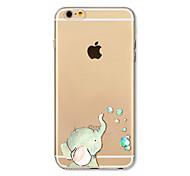 preiswerte -Hülle Für Apple iPhone X iPhone 8 Plus Transparent Muster Rückseite Elefant Weich TPU für iPhone X iPhone 8 Plus iPhone 8 iPhone 7 Plus