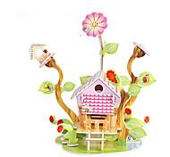 baratos -Quebra-Cabeças 3D Quebra-Cabeça Brinquedos de Montar Construções Famosas Casa Arquitetura 3D Faça Você Mesmo Cartão de Papel Duro