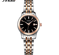 Women's Fashion Watch Japanese Quartz Shock Resistant Stainless Steel Band Luxury Casual Silver