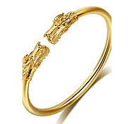cheap -Men's Women's Dragon Cuff Bracelet - Vintage Natural Friendship Round Circle Gold Bracelet For Party Special Occasion Birthday
