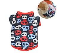 Cat Dog Coat Shirt / T-Shirt Sweatshirt Dog Clothes Party Casual/Daily Keep Warm Skulls Camouflage Color Black