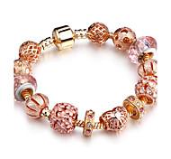 Women's Strand Bracelet Rhinestone Fashion Rose Gold Circle Oval Jewelry For Party Birthday Dailywear