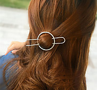 Европа и США внешней торговли моды шутник аксессуары для волос простой геометрический волос круг половину руки типа медные волосы a0192