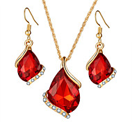 cheap -Women's Jewelry Set Necklace/Earrings Bridal Jewelry Sets Crystal Luxury Geometric Dangling Style Pendant Rhinestone Bohemian Rhinestones