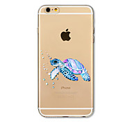 Case for iPhone 7 Plus 7 Cover Transparent Pattern Back Cover Case Sea Turtle Soft TPU for iPhone 6s plus 6 Plus 6s 6 SE 5s 5c 5 4s 4