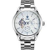Недорогие -Муж. Модные часы Механические часы Китайский С автоподзаводом Календарь Защита от влаги Светящийся Фосфоресцирующий Нержавеющая сталь