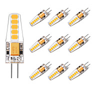 cheap -BRELONG® 10pcs 2W 250 lm G4 LED Bi-pin Lights T 10 leds SMD 2835 Warm White White AC/DC 12