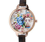 cheap -Women's Quartz Wrist Watch Hot Sale Leather Band Flower Bohemian Fashion Black Red Brown Gold Navy Rose
