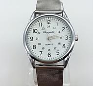 Men's Dress Watch Wrist watch Quartz Metal Band Vintage Casual Cool Silver