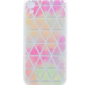 cheap -Case For HTC HTC Desire 626 Transparent Pattern Back Cover Geometric Pattern Soft TPU for