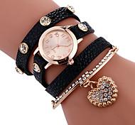 Women's Ladies' Bracelet Watch Unique Creative Watch Casual Watch Sport Watch Fashion Watch Quartz PU Band Charm Luxury Creative Casual