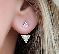 cheap -Women's Rhinestone Stud Earrings - Fashion Gold / Silver Triangle Earrings For Daily