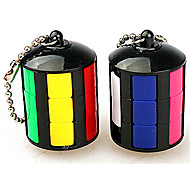 Rubik's Cube Smooth Speed Cube Stress Relievers Magic Cube Key Chain Plastics ABS Round Gift