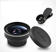 Mobile Phone Lens Fish-Eye Lens Wide-Angle Lens Macro Lens Aluminium Alloy 10X and above 52 0.03 180