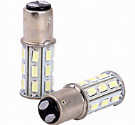 2pcs 6w White DC12v 1157 27SMD 5630 LED Light Bulb Lamp Reverse Lamp Tail Light Brake Light