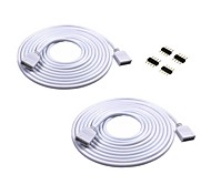 2PCS 2M Long Extension Cable Connect Female Plug For RGB 3528 5050 Strip With 4pcs 4pin Connectors Male