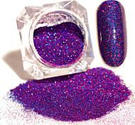 3g/Box Blue Purple Starry Holographic Laser Powder Holo Nail Art Glitter Powder