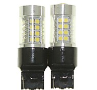 Sencart 2pcs 7440 W21W W3X16D Bulb Led Car Tail Turn Reverse Light Bulb Lamps(White/Red/Blue/Warm White) (DC/AC9-32V)