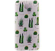 Case For Samsung Galaxy J7 (2017) J5 (2017) Case Cover Cactus Pattern 3D Relief Milk TPU Material Phone Case For Galaxy J3 (2017) J7 Prime J5 Prime