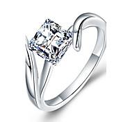 Women's Band Rings Cubic Zirconia Synthetic Diamond DIY Luxury Simple Style Classic Elegant Sterling Silver Zircon Rhinestone Geometric
