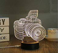 cheap -1 Set, Popular Home Acrylic 3D Night Light LED Table Lamp USB Mood Lamp Gifts, Camera