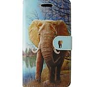 Недорогие -Case for apple iphone 7 plus 7 чехол чехол карта держатель кошелек с подставкой флип-паттерн полный корпус чехол слон твердая кожа pu для