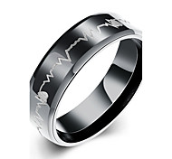 cheap -Men's Jewelry Black Stainless Steel Circle Basic Daily Casual Office & Career Costume Jewelry