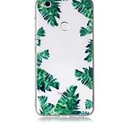 Case For Huawei P10 P10 Lite Case Cover Green Leaves Pattern Feel Varnish Relief High Penetration TPU Material Phone Case For Huawei P8 Lite (2017)