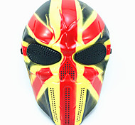 Недорогие -Хэллоуин креативный череп страшный призрак маска wargame главный тактический cs косплей камуфляж союз джек рыцарь маска карнавал маскарад