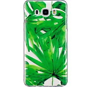 Case For Samsung Galaxy J3 (2016)  J5 (2016) Case Cover Green Leaves Pattern TPU Material IMD Craft Phone Case For Samsung J3 J7 (2016)