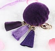 Bag / Phone / Keychain Charm Tassel Cartoon Toy Fur Ball Polyester Rex Rabbit Fur