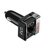 TUOPODA A7 Car Bluetooth FM Transmitter w/ Dual USB Ports - Black