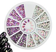 cheap -1pcs New Nail Art DIY Jewelry Sweet Decoration Nail Art Beauty Lovely Laser Horse Eye Leaf Glitter Silver Purple Sequins Design Nail Art Accessories
