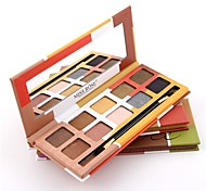 Missrose 10  Color Eyeshadow Palette Dry Eyeshadow palette Pressed powder Normal Daily Makeup Brush