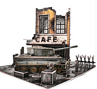 DIY KIT 3D Puzzles Jigsaw Puzzle Toys Tank Chariot 3D DIY Male Boys Pieces