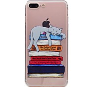 For Apple iPhone 7 Plus 7 Phone Case TPU Material Book Cat Pattern Painted Phone Case 6s Plus 6Plus 6S 6 SE 5s 5