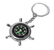 abordables -Ziqiao barco timón llave de la rueda llave de la novedad llave de la cadena regalo de la aleación del cinc del keychain