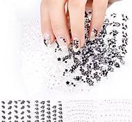 24Pcs Nail Stickers Decals Nail Art Manicure Design Flowers Decorations Tools For Nails Accessories Gift