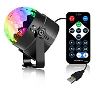 cheap -3W 3 LEDs Decorative Remote-Controlled LED Stage Lights RGB DC5