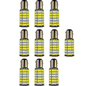 4W 1157 BAY15S PY21W 120SMD2835 Turn Signal Lamp for Car White DC12V 10Pcs
