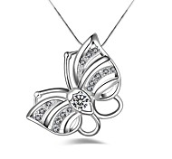 Women's Pendant Necklaces Imitation Diamond Butterfly Alloy Fashion Classic Jewelry For Party Gift Daily Evening Party Stage