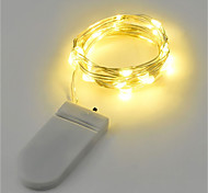 2W String Lights 2M 20LEDs Warm White White RGB Red Yellow Blue Green Battery Powered (Battery Not Include)