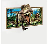 Недорогие -Животные фантазия 3D Наклейки Простые наклейки 3D наклейки Декоративные наклейки на стены 3D,Бумага Винил материал Украшение домаНаклейка