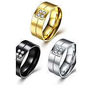 cheap -3 Color Man 2017 Fashion Luxury Simple Classic Titanium Steel Band Rings Jewelry For Man