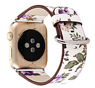 Watch Band for Apple Watch 3 Series 1 2 38mm 42mm Flower Leather Watch Band Strap Bracelet