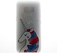 Case For Samsung Galaxy S8 S8 Plus Case Cover Unicorn Pattern 3D Relief Milk TPU Material Phone Case For Galaxy S7 S7 Edge S6 S6 Edge